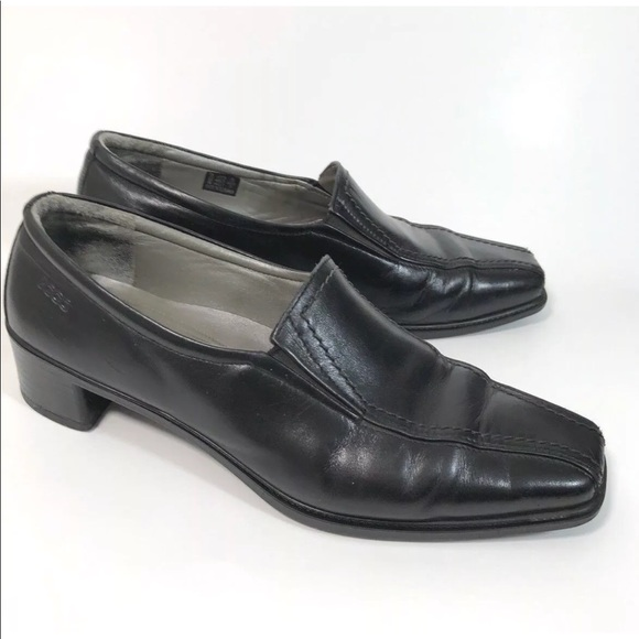 Ecco Shoes | Womens Black Leather